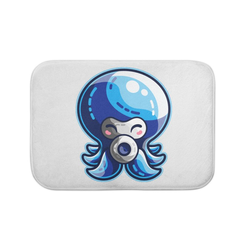 Cute Blue Octorok Home Bath Mat by Flaming Imp's Artist Shop