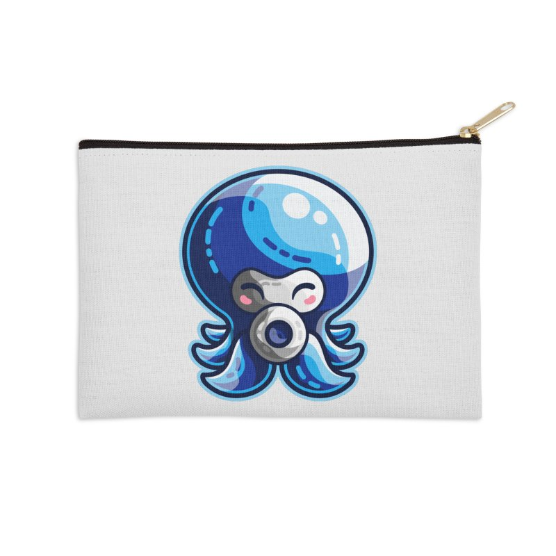 Cute Blue Octorok Accessories Zip Pouch by Flaming Imp's Artist Shop