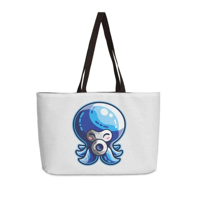 Cute Blue Octorok Accessories Weekender Bag Bag by Flaming Imp's Artist Shop