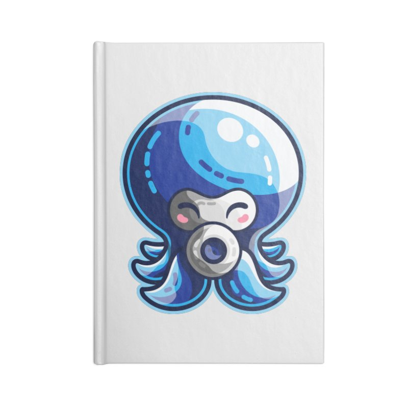 Cute Blue Octorok Accessories Lined Journal Notebook by Flaming Imp's Artist Shop