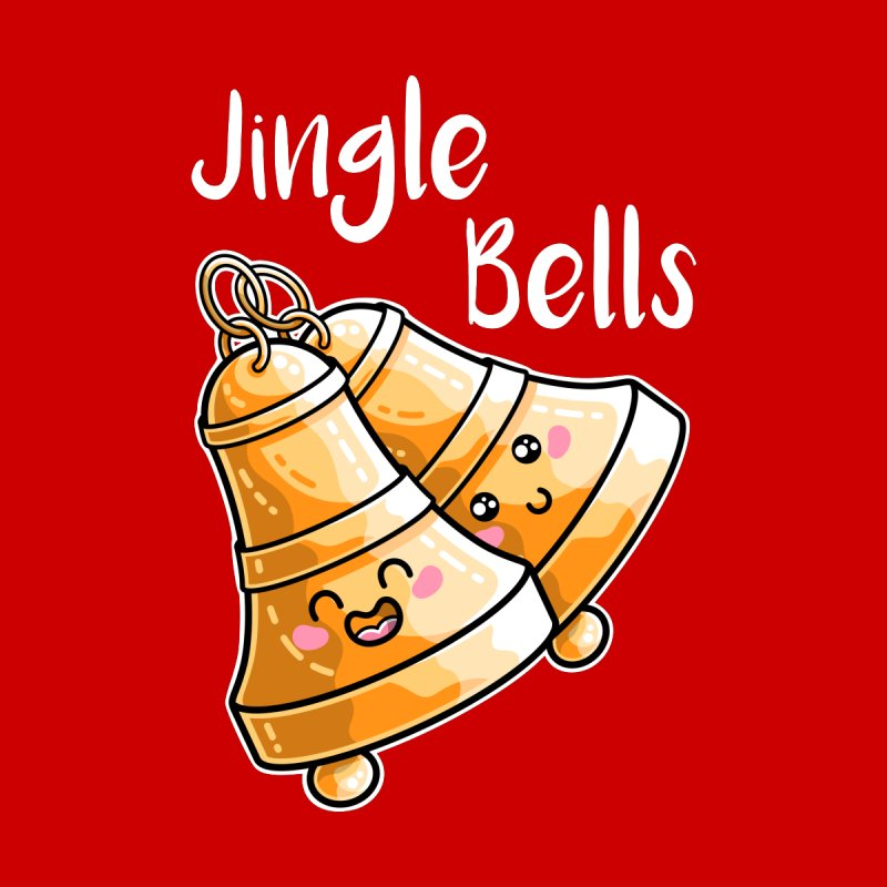 Kawaii Cute Christmas Jingle Bells Men's T-Shirt by Flaming Imp's Artist Shop
