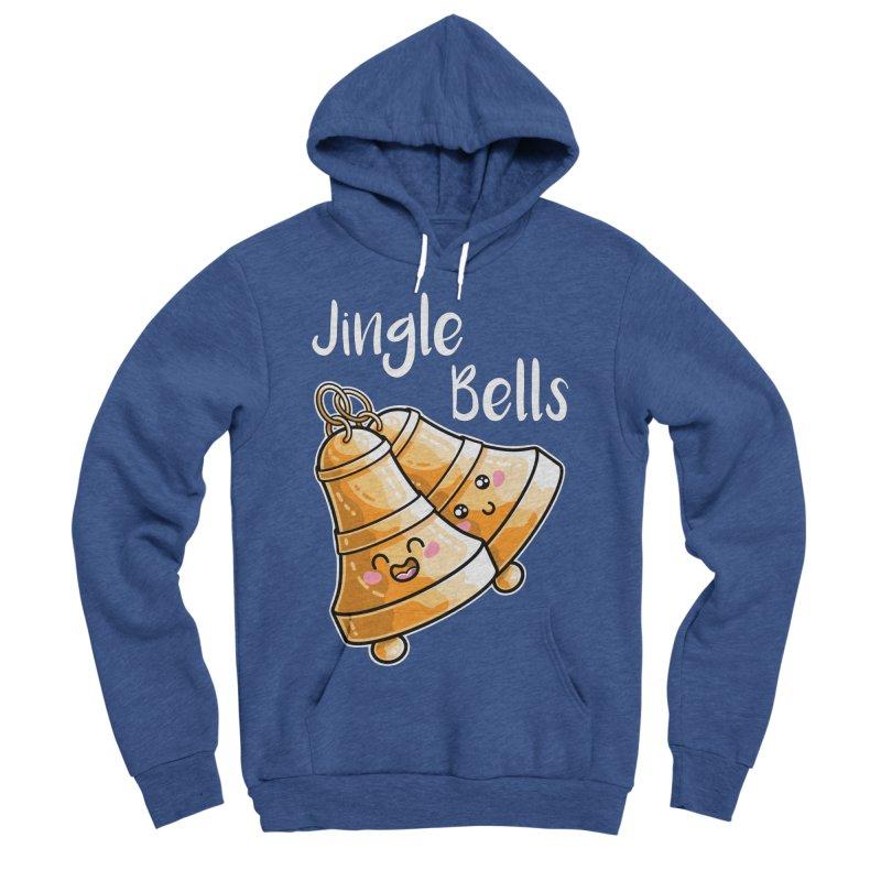 Kawaii Cute Christmas Jingle Bells Men's Sponge Fleece Pullover Hoody by Flaming Imp's Artist Shop