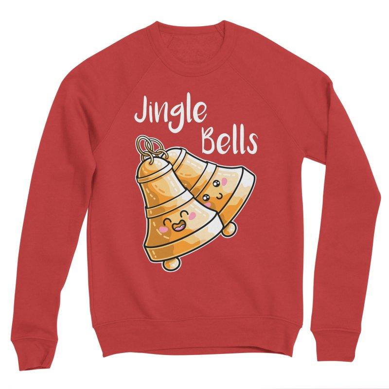 Kawaii Cute Christmas Jingle Bells Women's Sponge Fleece Sweatshirt by Flaming Imp's Artist Shop
