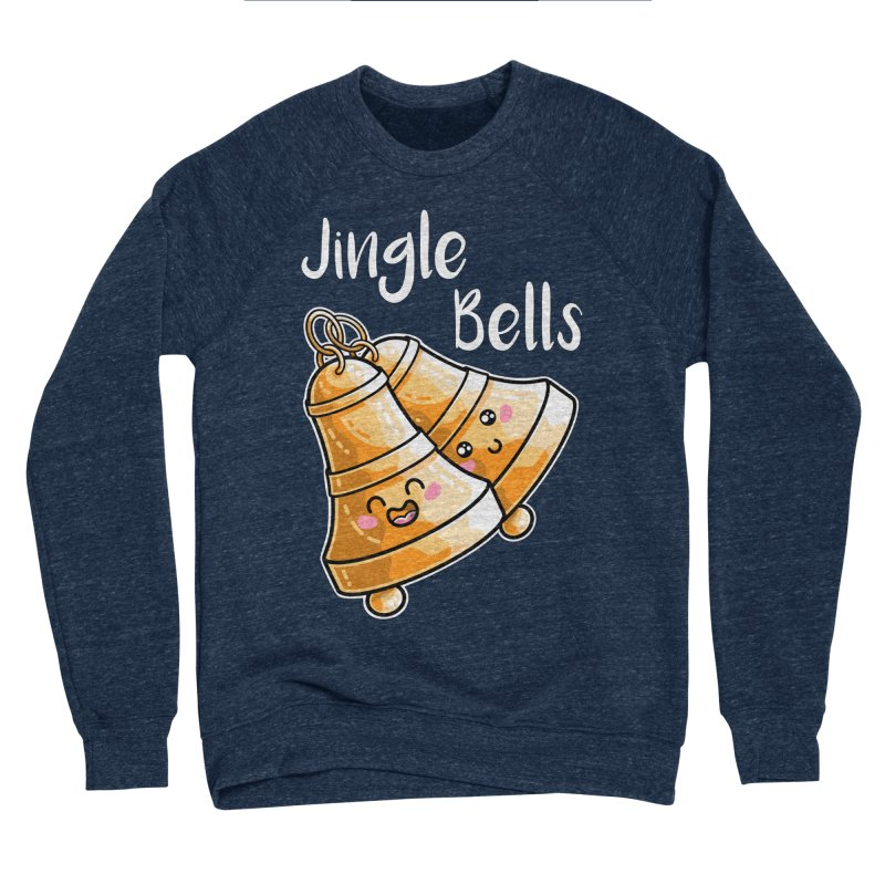 Kawaii Cute Christmas Jingle Bells Men's Sponge Fleece Sweatshirt by Flaming Imp's Artist Shop