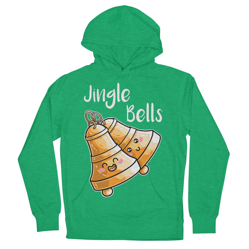 Kawaii Cute Christmas Jingle Bells Men's French Terry Pullover Hoody by Flaming Imp's Artist Shop