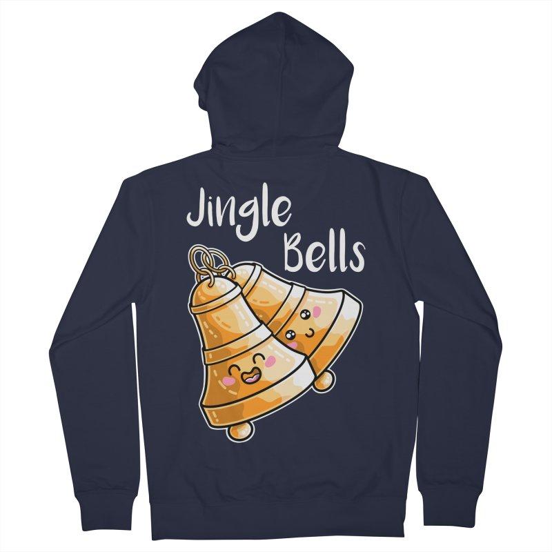 Kawaii Cute Christmas Jingle Bells Women's French Terry Zip-Up Hoody by Flaming Imp's Artist Shop