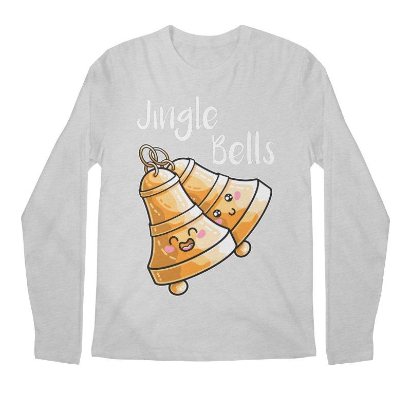 Kawaii Cute Christmas Jingle Bells Men's Regular Longsleeve T-Shirt by Flaming Imp's Artist Shop