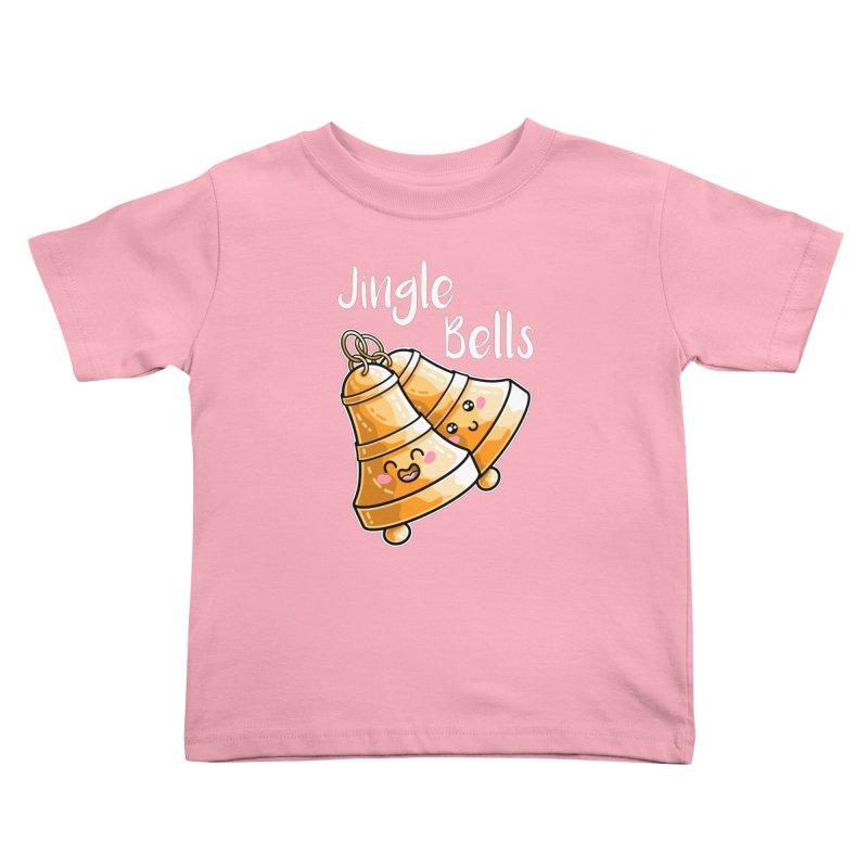 Kawaii Cute Christmas Jingle Bells Kids Toddler T-Shirt by Flaming Imp's Artist Shop