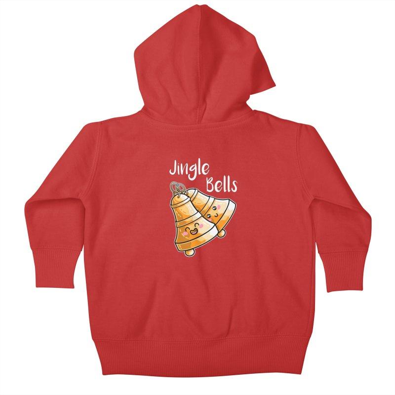 Kawaii Cute Christmas Jingle Bells Kids Baby Zip-Up Hoody by Flaming Imp's Artist Shop