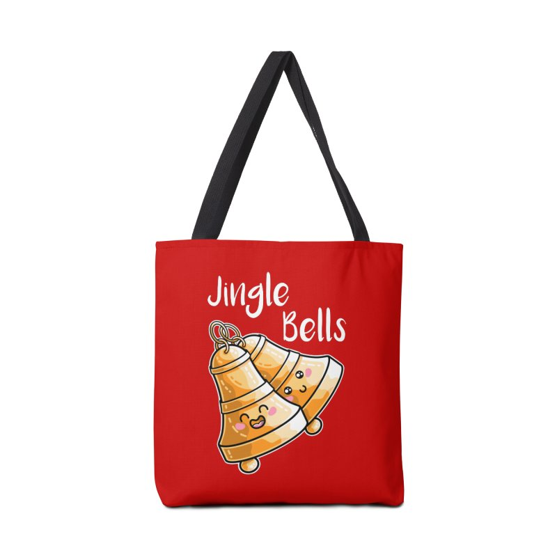 Kawaii Cute Christmas Jingle Bells Accessories Tote Bag Bag by Flaming Imp's Artist Shop