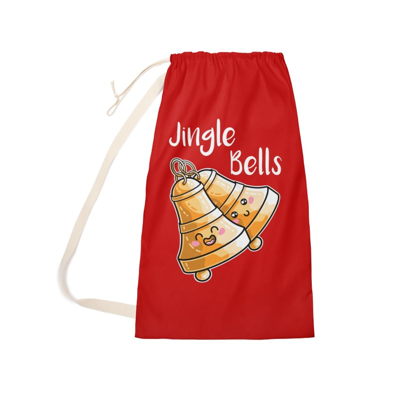 Kawaii Cute Christmas Jingle Bells Accessories Laundry Bag Bag by Flaming Imp's Artist Shop