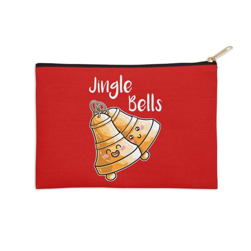 Kawaii Cute Christmas Jingle Bells Accessories Zip Pouch by Flaming Imp's Artist Shop