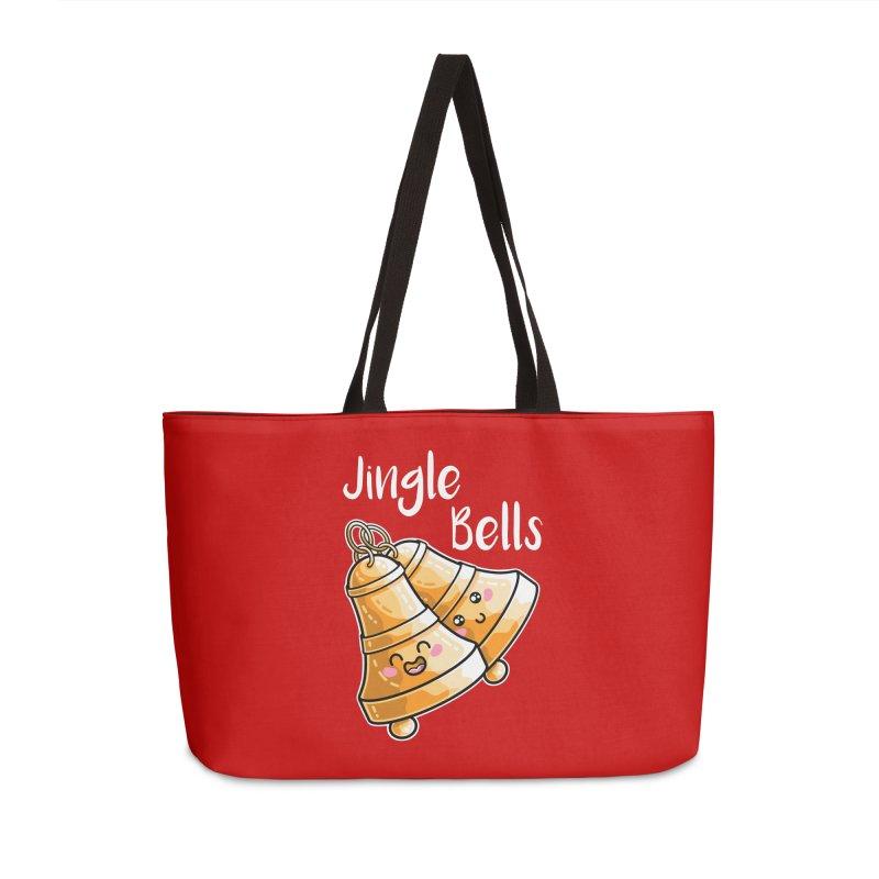 Kawaii Cute Christmas Jingle Bells Accessories Weekender Bag Bag by Flaming Imp's Artist Shop