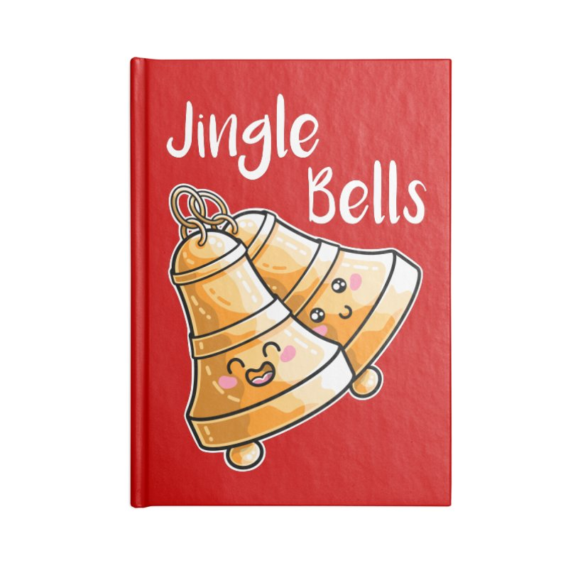 Kawaii Cute Christmas Jingle Bells Accessories Lined Journal Notebook by Flaming Imp's Artist Shop