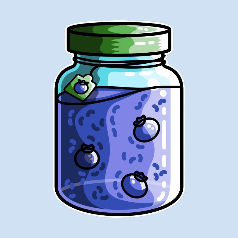Cute Jar of Blueberry Jam by Flaming Imp's Artist Shop