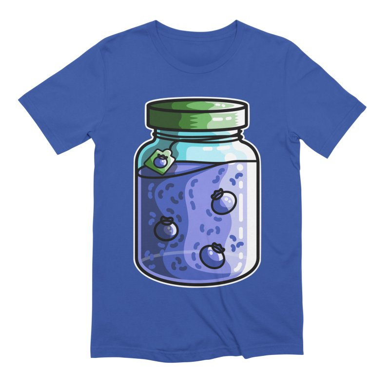 Cute Jar of Blueberry Jam Men's Extra Soft T-Shirt by Flaming Imp's Artist Shop
