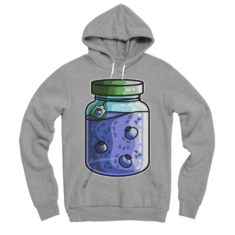 Cute Jar of Blueberry Jam Women's Sponge Fleece Pullover Hoody by Flaming Imp's Artist Shop