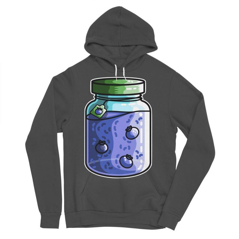 Cute Jar of Blueberry Jam Men's Sponge Fleece Pullover Hoody by Flaming Imp's Artist Shop