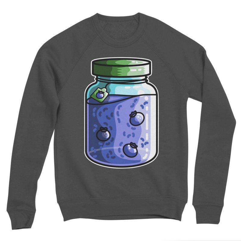 Cute Jar of Blueberry Jam Women's Sponge Fleece Sweatshirt by Flaming Imp's Artist Shop