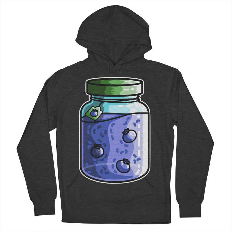Cute Jar of Blueberry Jam Men's Pullover Hoody by Flaming Imp's Artist Shop