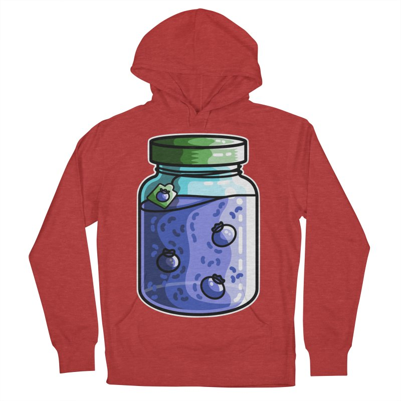 Cute Jar of Blueberry Jam Men's French Terry Pullover Hoody by Flaming Imp's Artist Shop