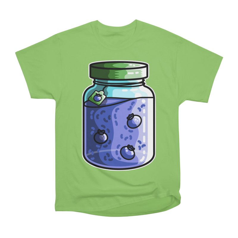 Cute Jar of Blueberry Jam Women's Heavyweight Unisex T-Shirt by Flaming Imp's Artist Shop