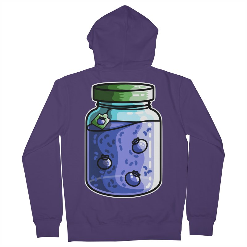 Cute Jar of Blueberry Jam Women's French Terry Zip-Up Hoody by Flaming Imp's Artist Shop