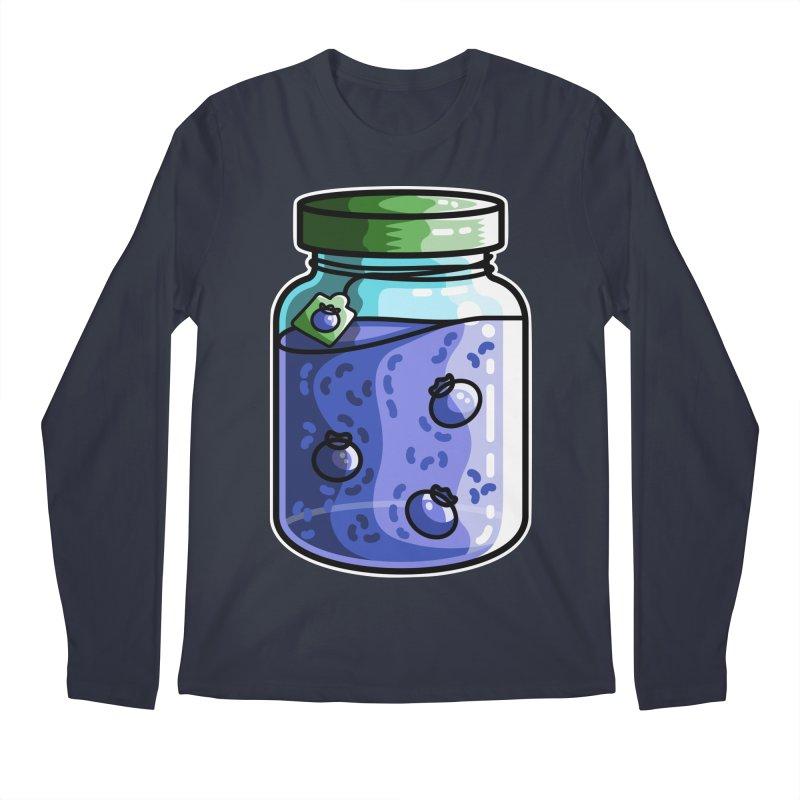 Cute Jar of Blueberry Jam Men's Regular Longsleeve T-Shirt by Flaming Imp's Artist Shop