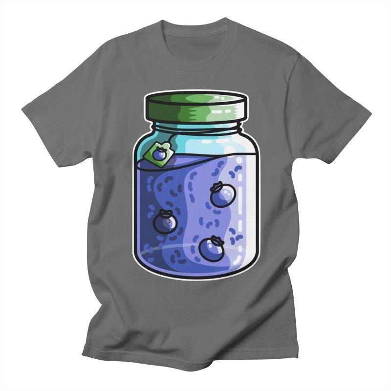Cute Jar of Blueberry Jam Men's T-Shirt by Flaming Imp's Artist Shop