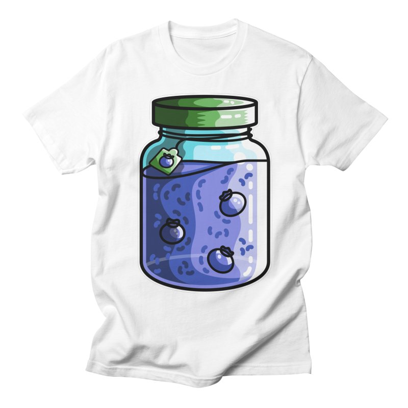 Cute Jar of Blueberry Jam Men's Regular T-Shirt by Flaming Imp's Artist Shop