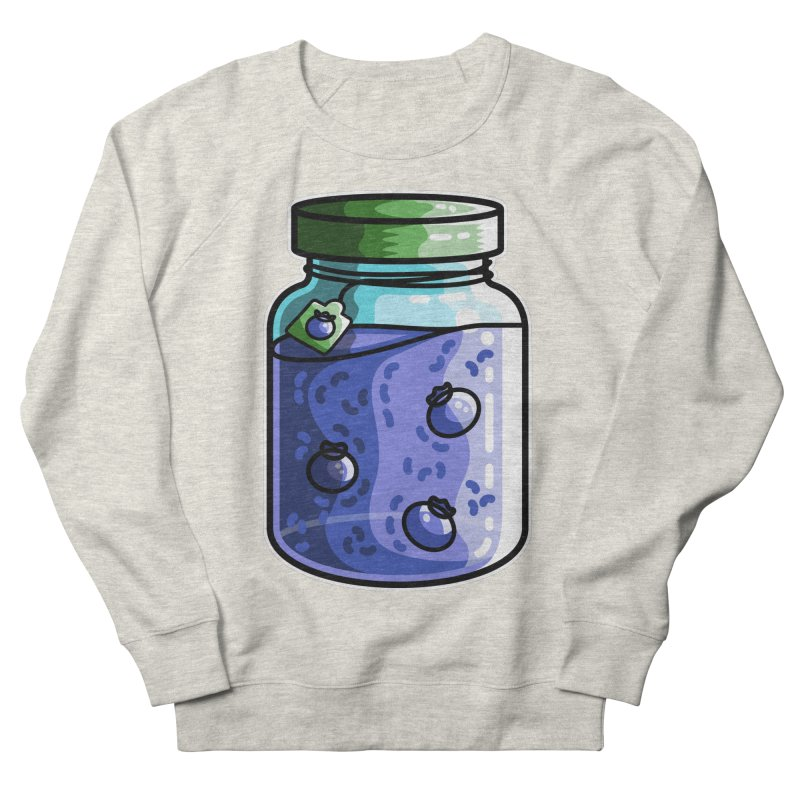 Cute Jar of Blueberry Jam Women's French Terry Sweatshirt by Flaming Imp's Artist Shop
