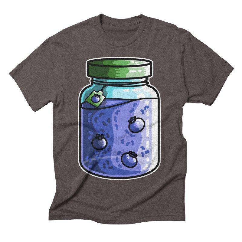 Cute Jar of Blueberry Jam Men's Triblend T-Shirt by Flaming Imp's Artist Shop
