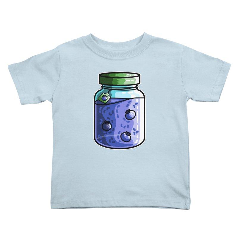 Cute Jar of Blueberry Jam Kids Toddler T-Shirt by Flaming Imp's Artist Shop
