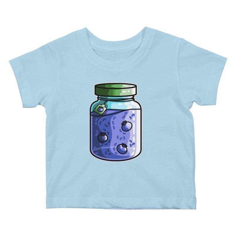 Cute Jar of Blueberry Jam Kids Baby T-Shirt by Flaming Imp's Artist Shop
