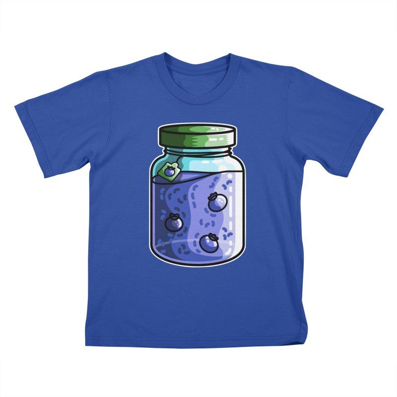 Cute Jar of Blueberry Jam Kids T-Shirt by Flaming Imp's Artist Shop