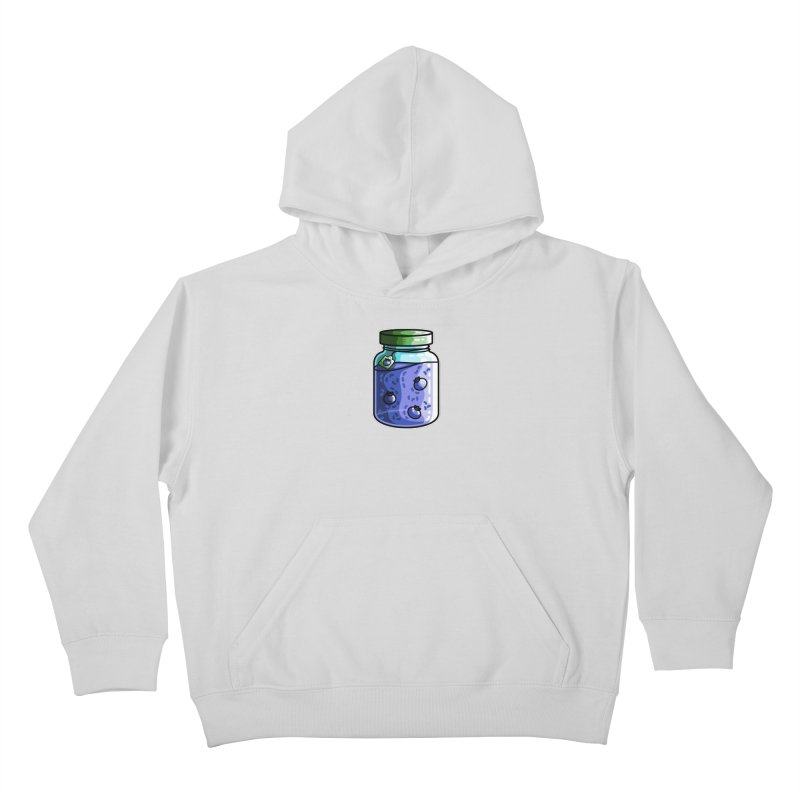 Cute Jar of Blueberry Jam Kids Pullover Hoody by Flaming Imp's Artist Shop
