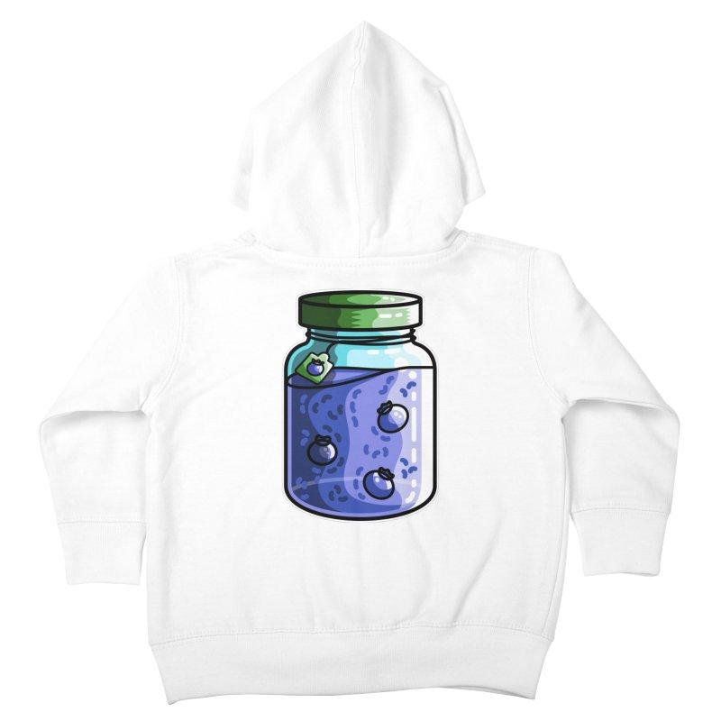 Cute Jar of Blueberry Jam Kids Toddler Zip-Up Hoody by Flaming Imp's Artist Shop