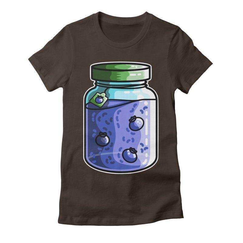 Cute Jar of Blueberry Jam Women's T-Shirt by Flaming Imp's Artist Shop