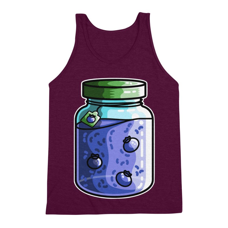 Cute Jar of Blueberry Jam Men's Triblend Tank by Flaming Imp's Artist Shop