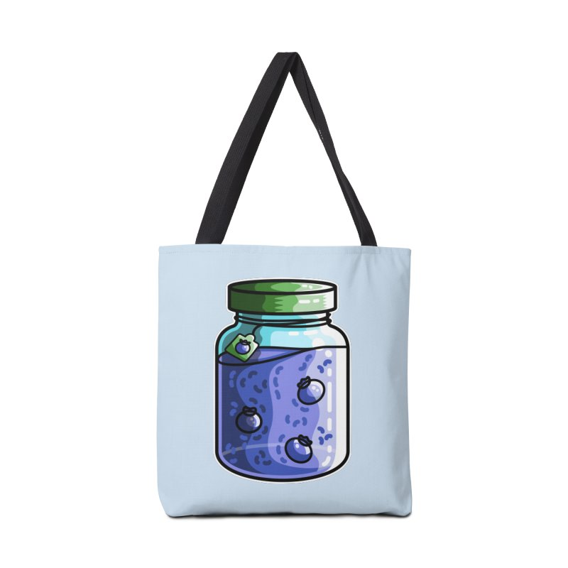 Cute Jar of Blueberry Jam Accessories Tote Bag Bag by Flaming Imp's Artist Shop
