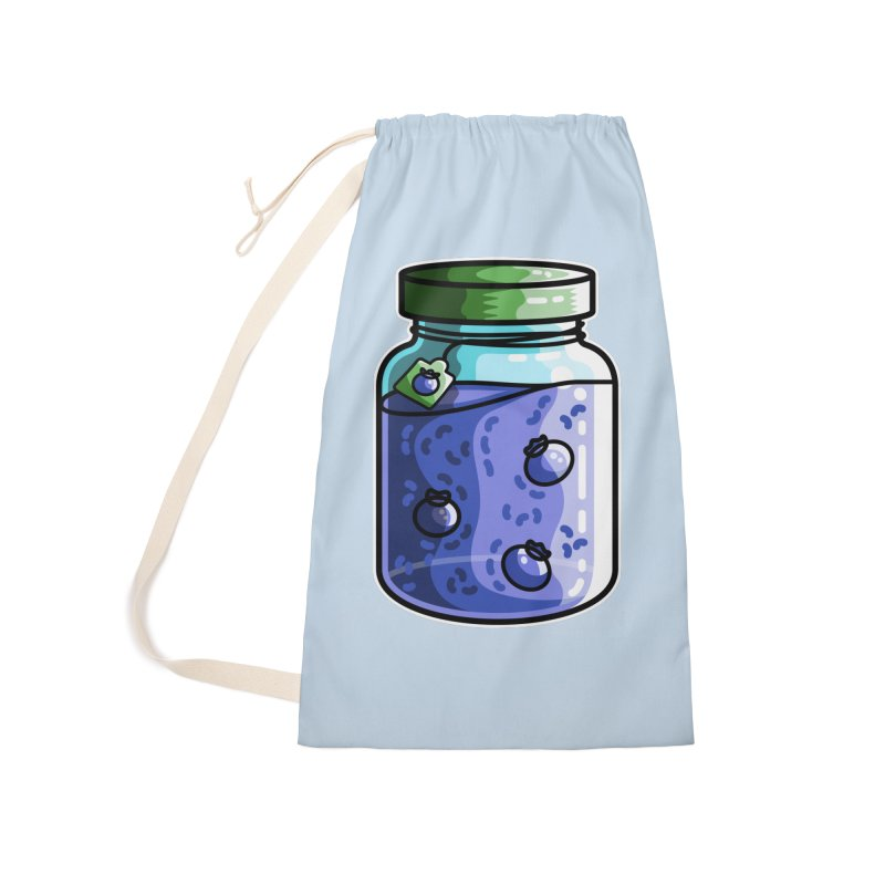 Cute Jar of Blueberry Jam Accessories Laundry Bag Bag by Flaming Imp's Artist Shop