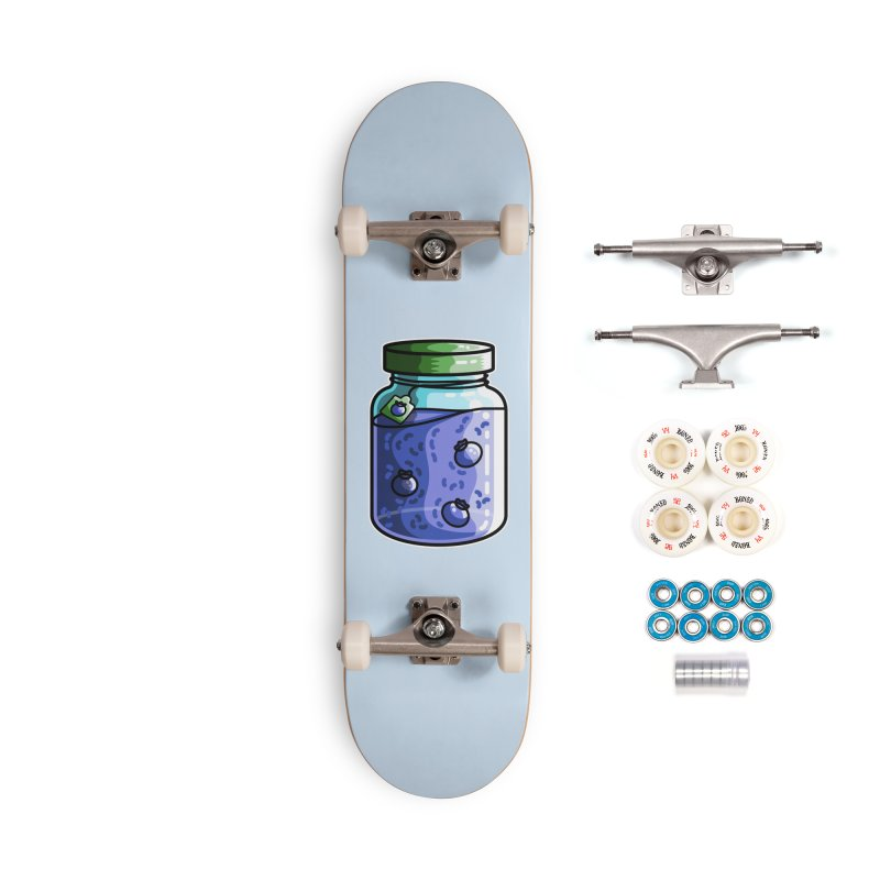 Cute Jar of Blueberry Jam Accessories Complete - Premium Skateboard by Flaming Imp's Artist Shop