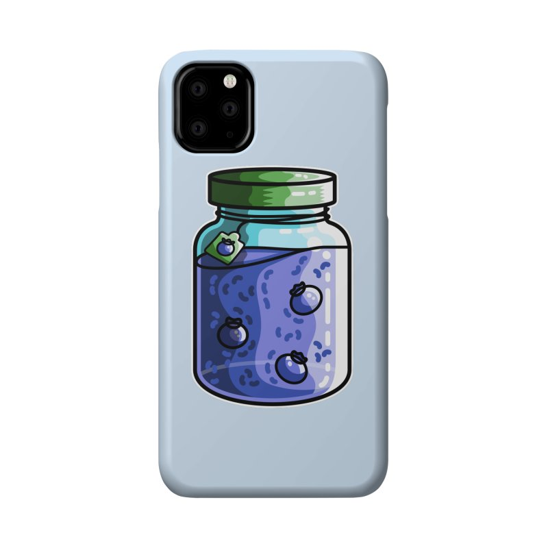 Cute Jar of Blueberry Jam Accessories Phone Case by Flaming Imp's Artist Shop