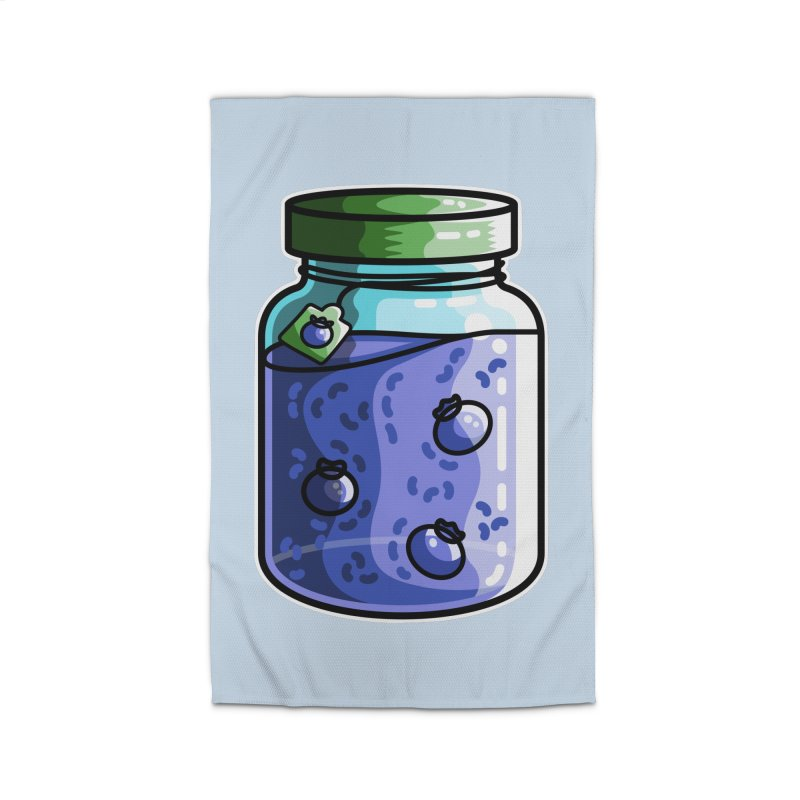 Cute Jar of Blueberry Jam Home Rug by Flaming Imp's Artist Shop
