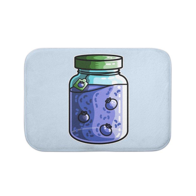 Cute Jar of Blueberry Jam Home Bath Mat by Flaming Imp's Artist Shop