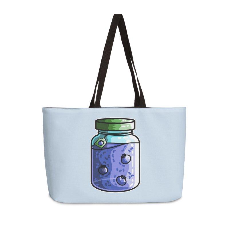 Cute Jar of Blueberry Jam Accessories Weekender Bag Bag by Flaming Imp's Artist Shop
