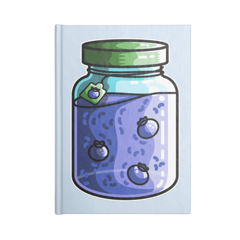 Cute Jar of Blueberry Jam Accessories Lined Journal Notebook by Flaming Imp's Artist Shop