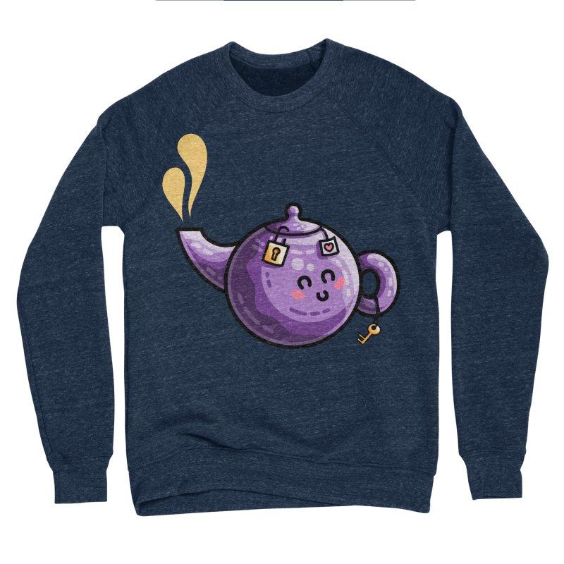 Kawaii Cute Safe-Tea Pun Men's Sponge Fleece Sweatshirt by Flaming Imp's Artist Shop
