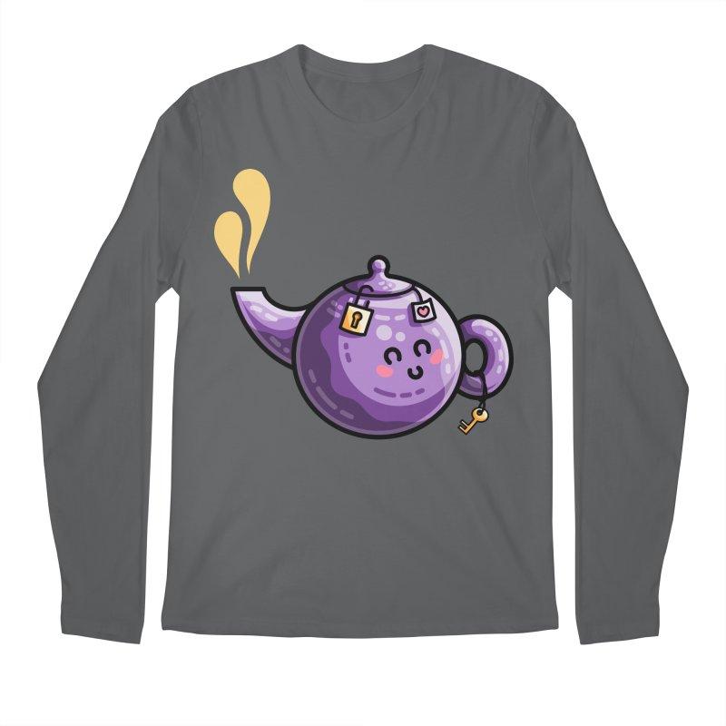 Kawaii Cute Safe-Tea Pun Men's Longsleeve T-Shirt by Flaming Imp's Artist Shop