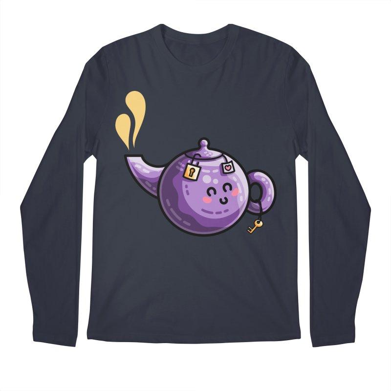 Kawaii Cute Safe-Tea Pun Men's Regular Longsleeve T-Shirt by Flaming Imp's Artist Shop